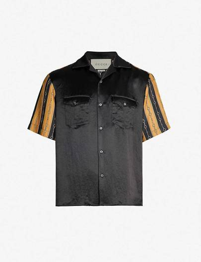 Gucci silk-crepe and satin shirt