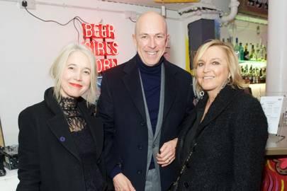Justine Simons, Dylan Jones and Jane Boardman