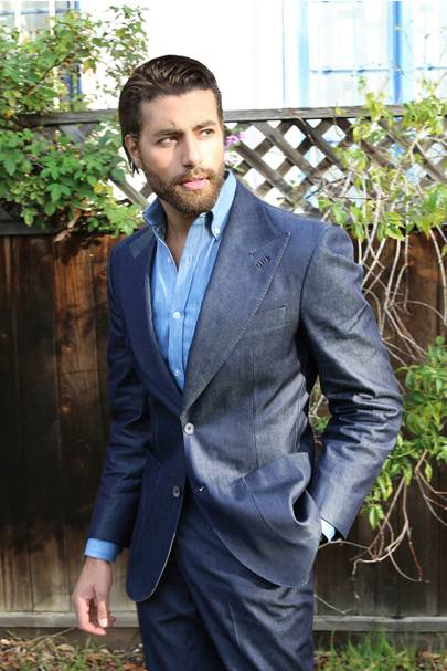 Cashmere Denim the Era Suit by William Lei