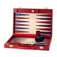 17 Leather Backgammon Set