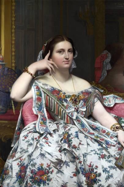 Madame Moitessier. 1856. Oil on canvas
