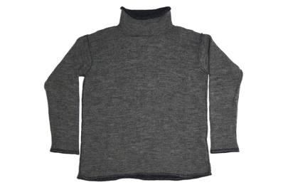 Albam grey plaited merino jumper