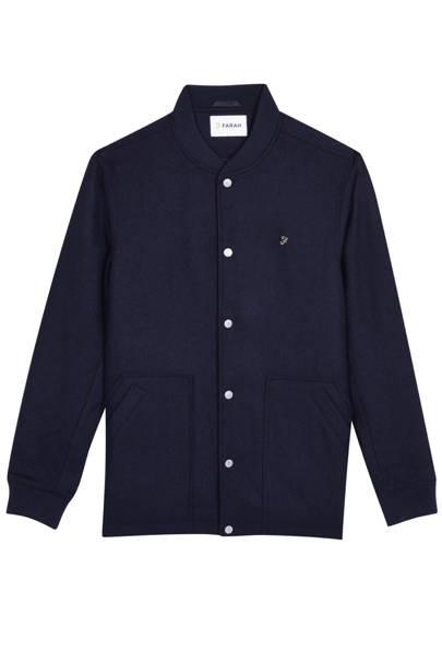 Farah 'Charecroft' button-down bomber jacket