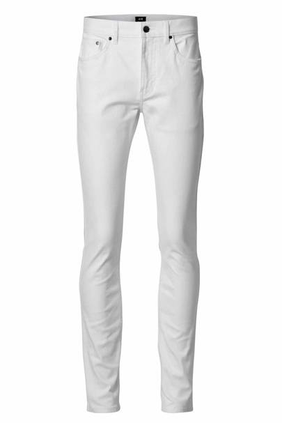 David Beckham H&M Modern Essentials slim white jeans