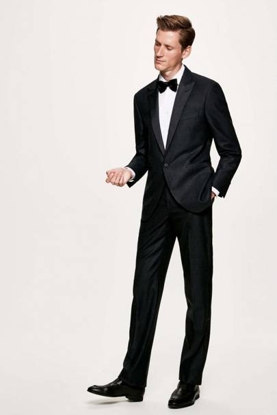Charcoal flannel tuxedo by Hackett