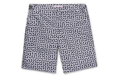 Dane slim-fit, long-length printed swim shorts by Orlebar Brown