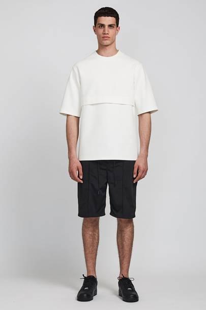 What We Wear horizontal pleat T-shirt