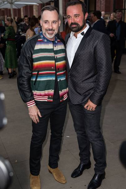 David Furnish and Evgeny Lebedev