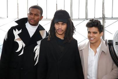 Trevor Jackson, Luka Sabbat and Jordan Buhat's skyscraper-proof hair