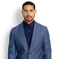 Canvas by Land's End chambray suit