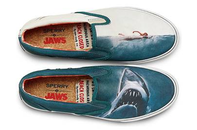 Sperry x Jaws slip-ons