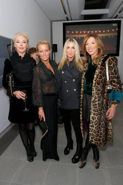 Tamara Beckwith, Davinia Taylor, Meg Matthews and Heather Kerzner