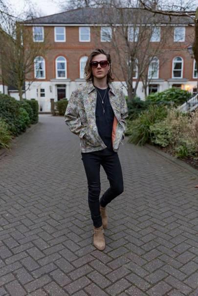 Dougie Poynter at London Fashion Week (Day 1)
