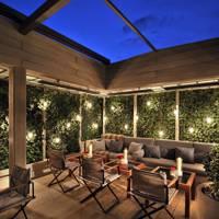 A four course dinner on The Hari garden terrace