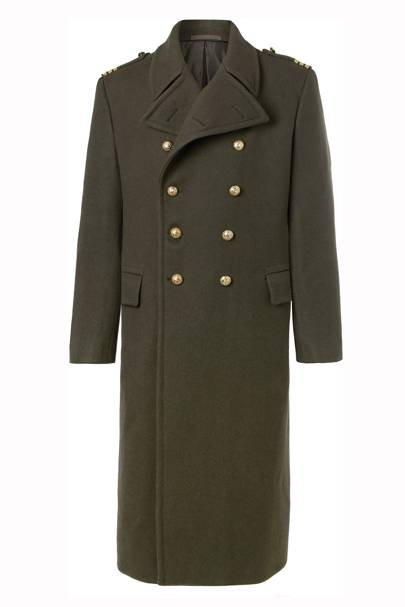 Balmoral military double-breasted coat by Ralph Lauren Purple Label