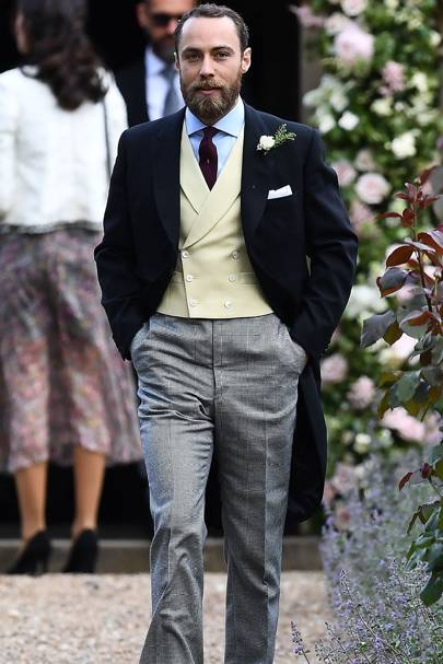James Middleton And His Successful Blue Shirt Yellow Waistcoat Combination