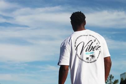 VIBEZ slogan t-shirt by DRWS
