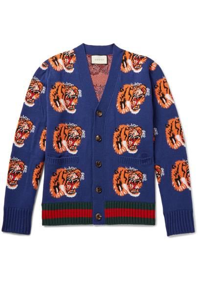 Gucci tiger-jacquard cardigan