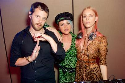Mike Skinner, Jaime Winstone and Mary Charteris