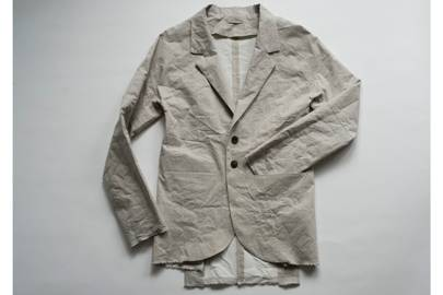Raw Cut Suit Jacket With Slit Pockets by KAI DUNKEL