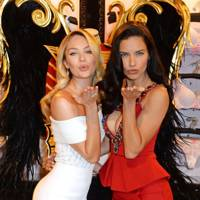 Candice Swanepoel and Adrianna Lima