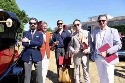 Jack Guinness, Patrick Grant, Nicholas Foulkes and Laurent Feniou