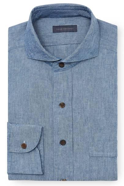 Thom Sweeney chambray shirt
