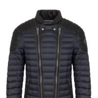 Down-padded biker jacket by Colmar