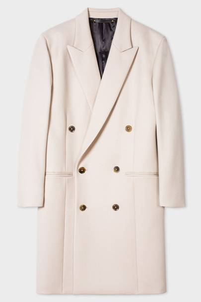 Paul Smith taupe double-breasted coat