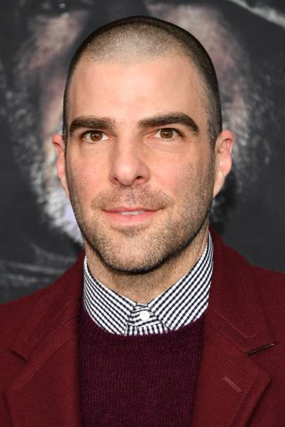 Zachary Quinto Shaved it All Off