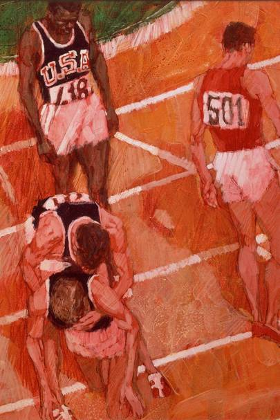 Olympic illustration, 1965 by Brian Sanders