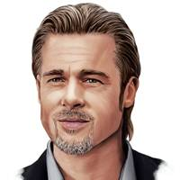 Brad Pitt – the extra-long slick back