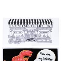 Biscuiteers 'You're My Lobster' card