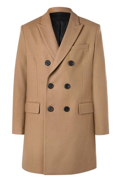 Wool-blend coat by Ami