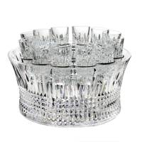 Lismore Diamond Vodka Chill Bowl & 12 Shot Glasses by Waterford Crystal