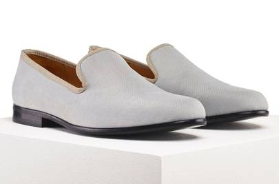 Duke & Dexter linen slippers