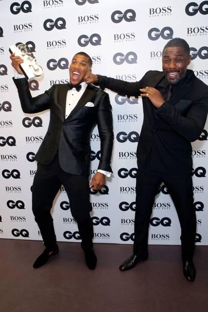 Anthony Joshua and Idris Elba