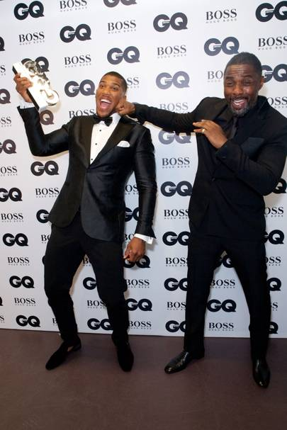Anthony Joshua and Idris Elba
