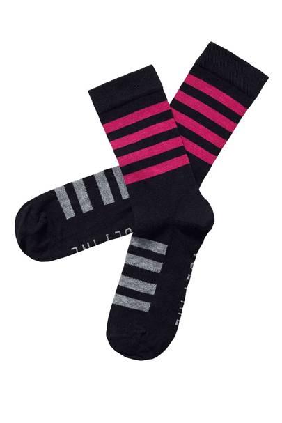Mid Length Egyptian Cotton Stripe Socks