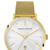Lugano Aurora Milanese Gold/White 38MM watch