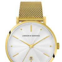 Lugano Aurora Milanese Gold/White 38MM watch