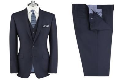 Aldgate Navy Italian Wool suit by T.M. Lewin