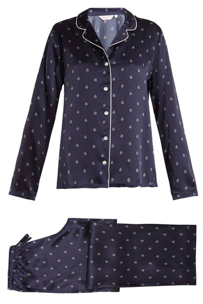 Derek Rose Brindisa 19 Silk-Satin Pyjamas