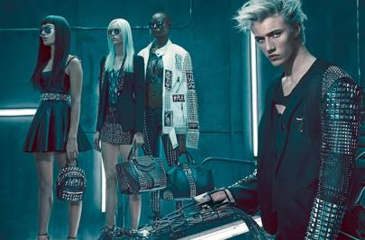 af6b58ef96 he's been studded to the max and joined by big-time female models. Hailey  Baldwin, Ajak Deng and Pyper America Smith. It's the kind of high fashion  squad ...