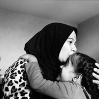 "On arriving in France, Sihan, Aya's mother, said, ""Aya struggles to sleep, but on the first night I was able to say to her, 'It's OK, Aya, this is your home now'"" – Laval, France. June 2016"