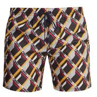 Mania logo-print swim shorts by Fendi