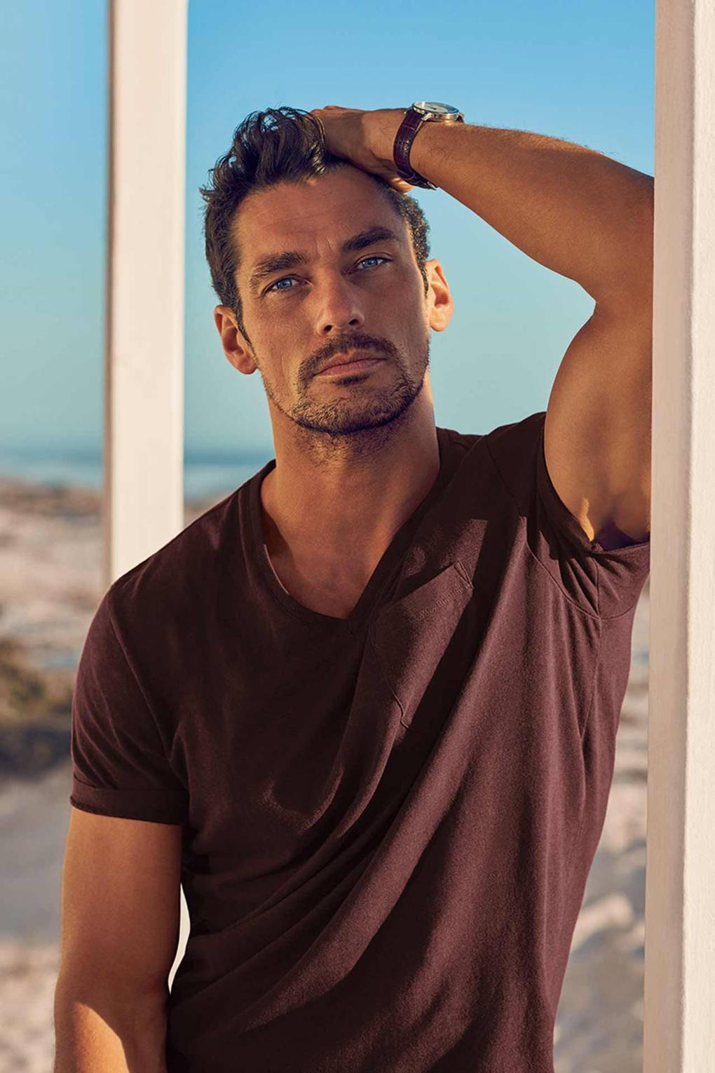 0445a9ccd4 Your first look at David Gandy's new beachwear line for M&S | Marks &  Spencer autograph swimwear 2017 | British GQ