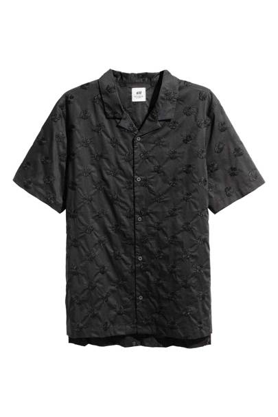 Embroidered resort shirt