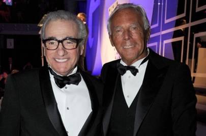 Giorgio Armani and Martin Scorsese