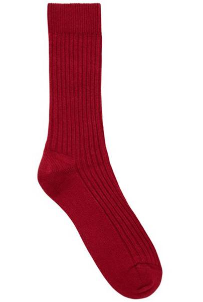 Ribbed wool-and-cashmere socks by Boss